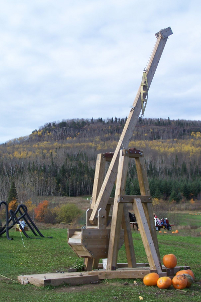 how to build a mini pumpkin catapult
